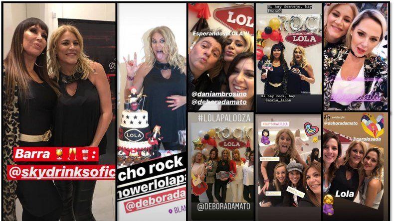 Débora D´Amato y el baby shower de Lola con Moria, Pamela y muchos famosos