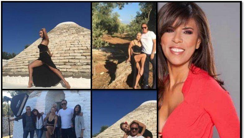 Andrea Ghidone pasea por Italia con su novio millonario; la celestina fue Anamá Ferreira