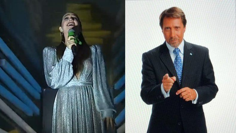 Duro cruce entre Ángela Torres y Eduardo Feinmann por el pañuelo verde en la ceremonia de los Juegos Olímpicos