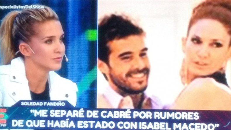 Soledad Fandiño: Me separé de Cabré porque él estaba con Isabel Macedo
