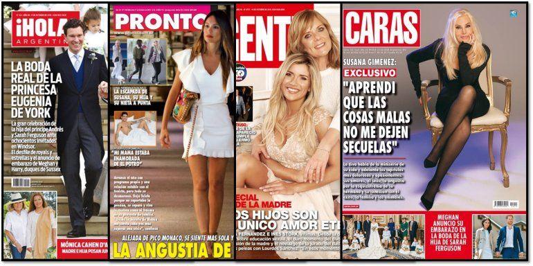 La depresión de Pampita; las confesiones de Susana y todas las tapas de revistas