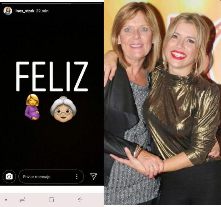 El curioso mensaje de Inés, la madre de Laurita, mostrando una panza e imagen de abuela: Feliz