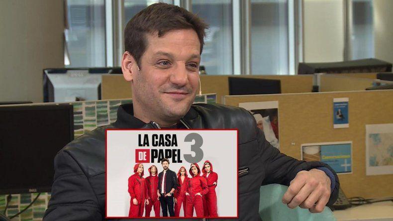 Se develó el misterio: Rodrigo de la Serna es el actor argentino que estará en La casa de papel 3 y 4