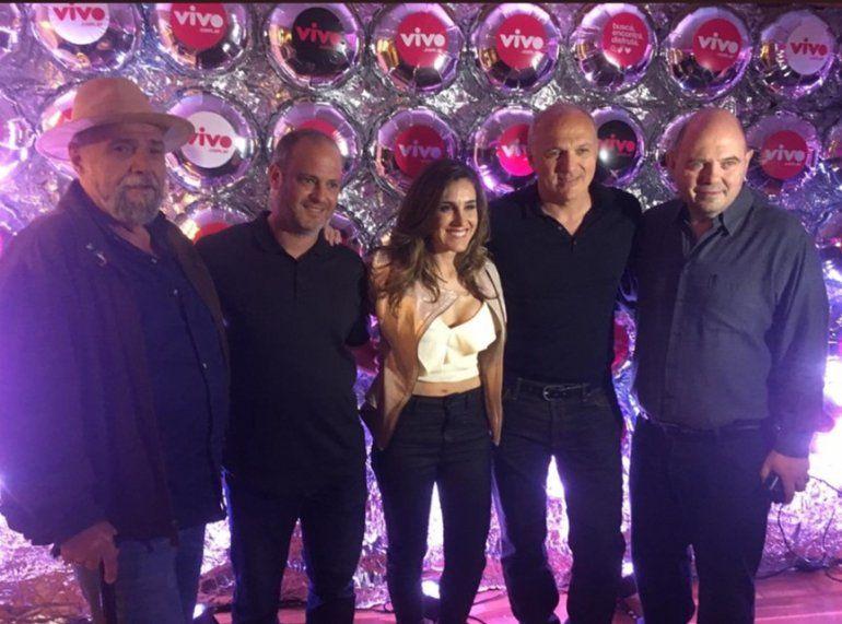 Soledad estuvo en el lanzamiento de VIVO, junto a Rottemberg, Kompel y Patalano