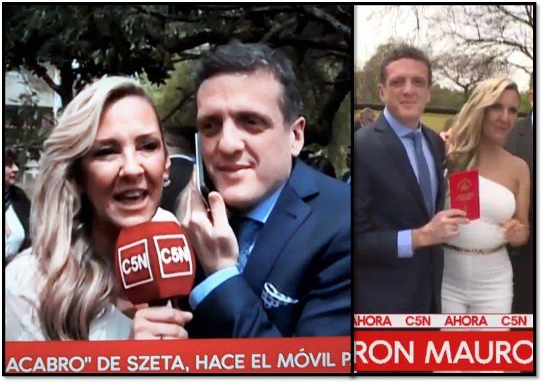 Mauro Szeta se casó: el periodista formalizó con su novia de años, la fiscal Clarissa Antonini