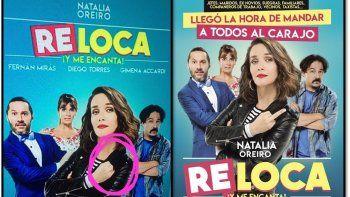 Censuran el fuck you de Natalia Oreiro en el afiche de la película Re loca en Apple Tv