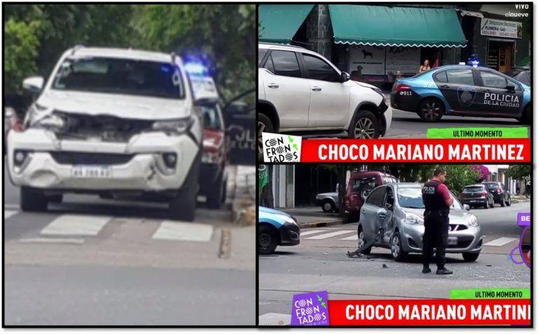 Chocó Mariano Martínez en una esquina sin semáforos: las fotos del accidente