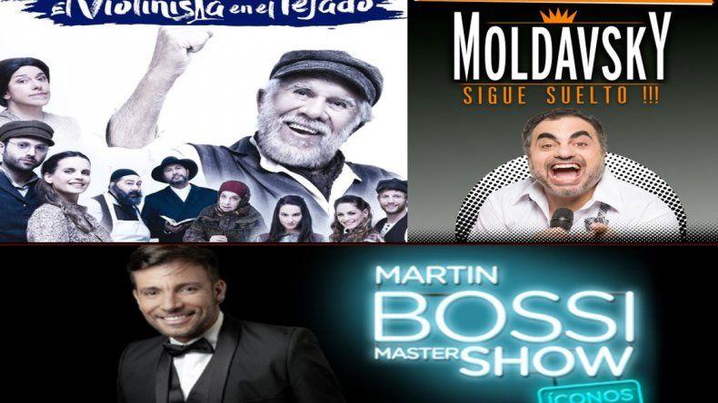 El Violinista, Moldavsky y Martín Bossi al tope de las recaudaciones teatrales