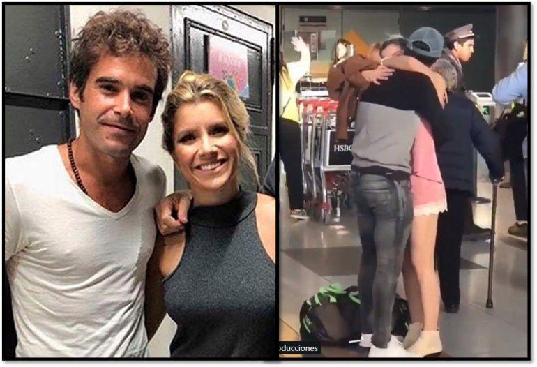 Laurita y Cabré: despedida y besos en Ezeiza; una maratón en Nueva York y amor a distancia