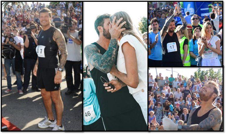 Tinelli volvió a Bolivar, corrió la maratón en honor a su papá y participó de varios eventos relacionados con lo social