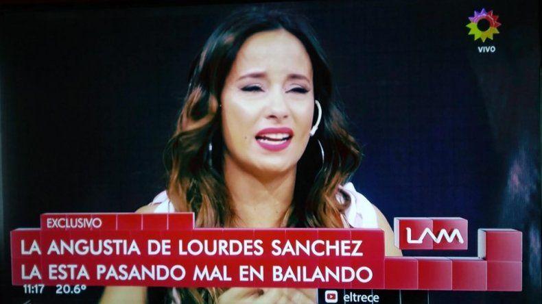 El llanto de Lourdes Sánchez