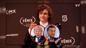 Toto Ferro ganó un premio a mejor actor en México y lo dedicó especialmente a Trump y a Macri