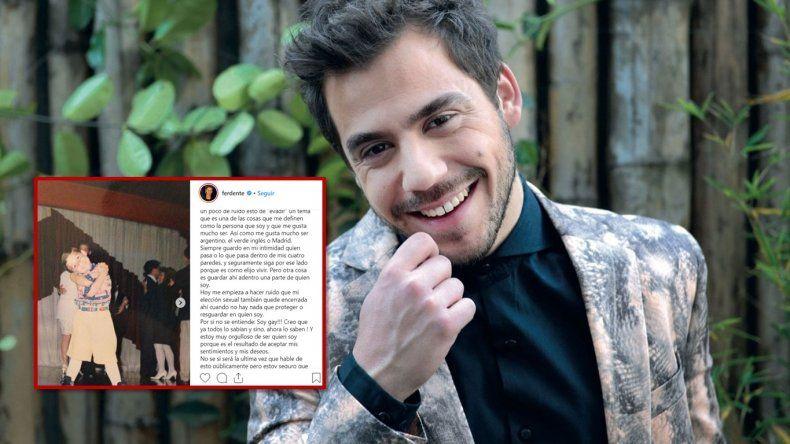 El actor Fernando Dente salió del closet: Soy gay; y la reacción en las redes sociales