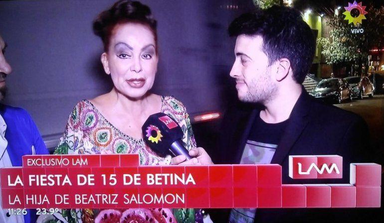 Beatriz Salomón reapareció en los 15 de su hija, en medio de la pelea por su salud