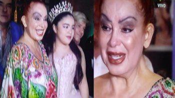 Beatriz Salomón reapareció en los 15 de su hija