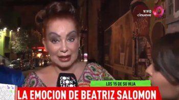 Beatriz Salomón se quebró en un llanto desconsolado al hablar de su enfermedad