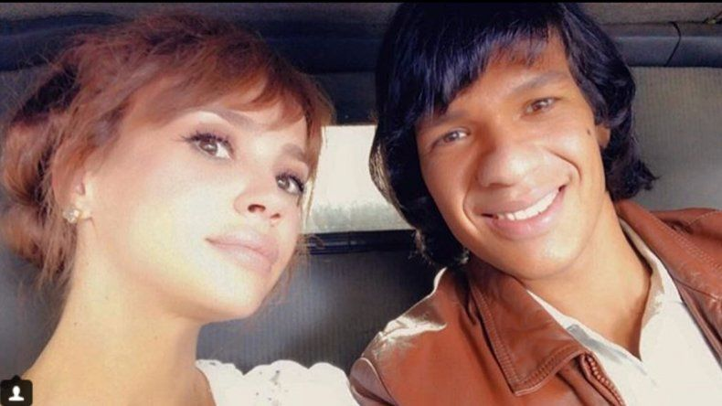 Mirá el look de Celeste Cid como Susana y el actor que hace de Monzón, grabando la serie