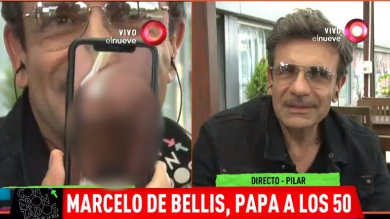 Insólito: Marcelo De Bellis mostró la foto más prohibida de su bebé recién nacido