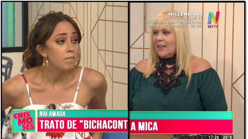 Tensión al aire: Nai Awada y Ubfal discutieron por el apodo de Mica Viciconte y terminó mal