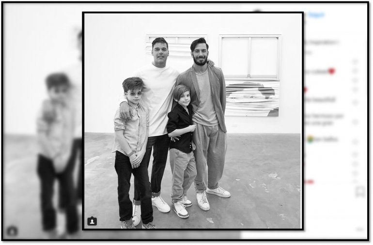La foto de Ricky Martin con su pareja y sus mellizos que recorre el mundo