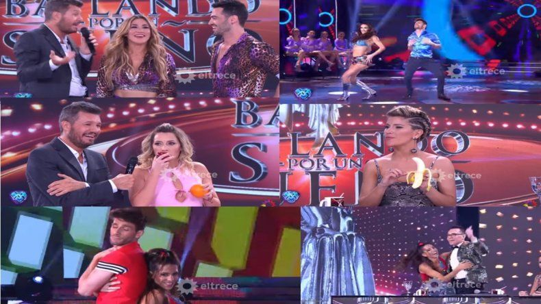 La banana de Laurita, el helado frío de Jimena y Mauro y la cumbia de Cinthia para Polino en Showmatch