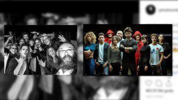 Los actores de La casa de Papel subieron un posteo a Instagram durante la grabación de la tercera parte