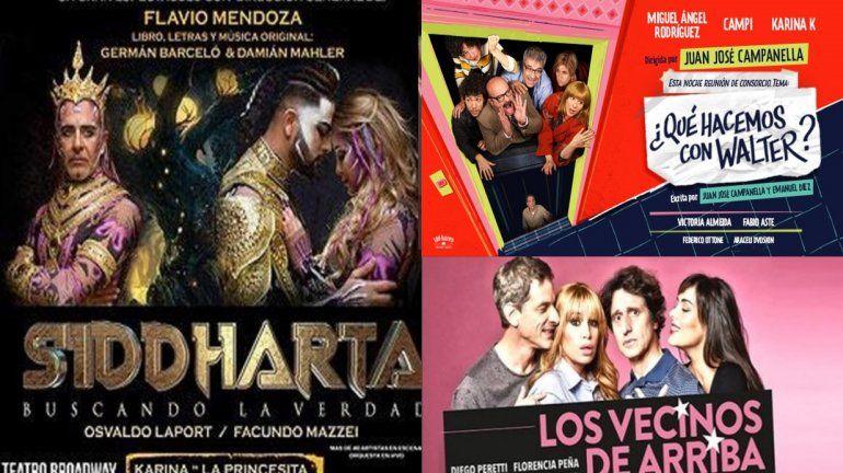 Flavio Mendoza, Flor Peña y ¿Qué hacemos con Walter?, al tope de las recaudaciones teatrales