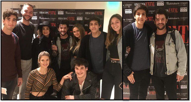 El elenco joven de 100 días para enamorarse, con Facundo Calvo a la cabeza, fueron a ver Atracción fatal