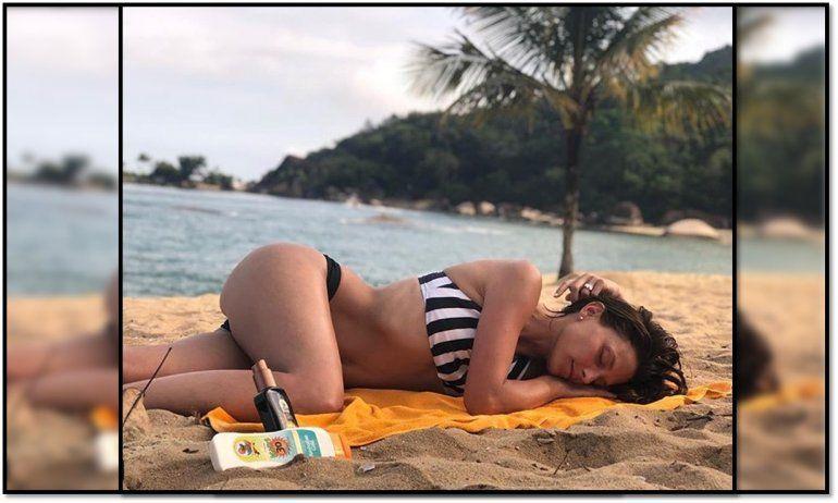 Una actriz posó en bikini a lo Sol Pérez: sensual foto en las playas de Brasil