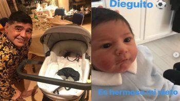 otro escandalo en los maradona: diego viene al pais para bautizar a su nieto menor, pero reniega de sus hijos argentinos