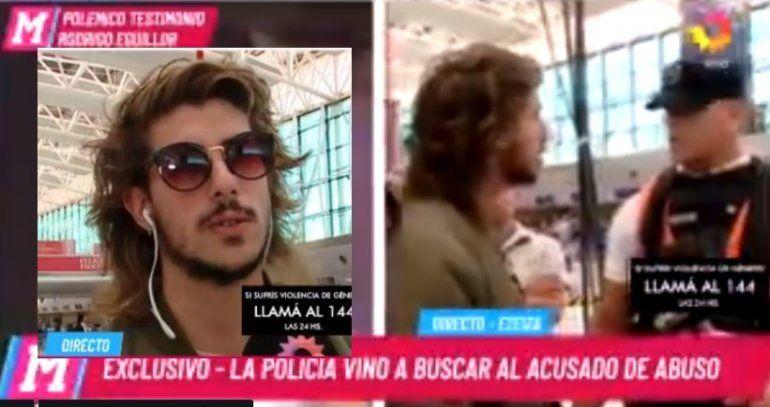 Rodrigo Eguillor, el hijo de la fiscal acusado de abuso, estaba dando un móvil para Mariana Fabbiani y lo detuvieron
