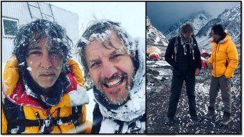 Facundo Arana y Javier Calamaro varados por una tormenta al intentar subir a la cima del Aconcagua