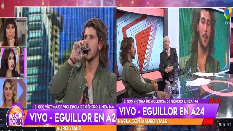 Insólita guerra de pantalla entre Mauro Viale y Moria Casán por Rodrigo Eguillor