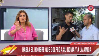 Maju Lozano sacada con un hombre que golpeó a su novia