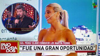 Sol Pérez le respondió a Tinelli: Ellos sabían que no iba a poder ir