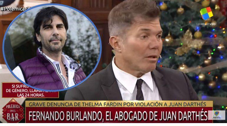 Denuncia contra Juan Darthés: la palabra de su abogado, Fernando Burlando