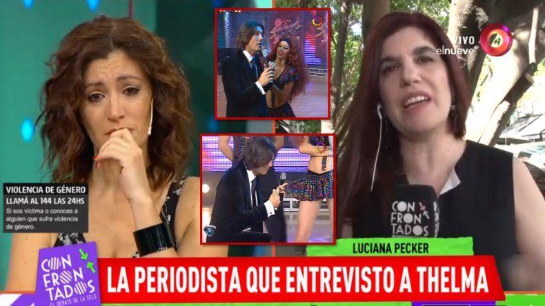 Las lágrimas de Carla Conte al ser reconocida como la primera que se plantó cuando Tinelli quiso cortarle la pollera