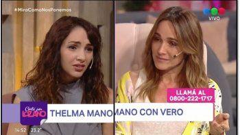 Las lágrimas de Verónica Lozano al contar un hecho de abuso que le llegó en un mensaje