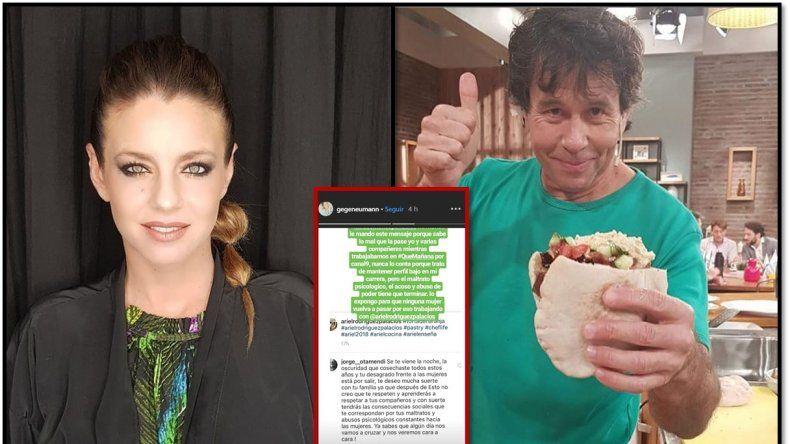 Una nueva denuncia: Gege Neumann acusa a Ariel Rodríguez Palacios de acoso y maltrato psicológico