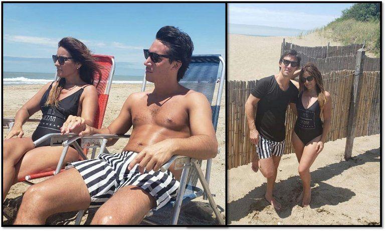 Marcela Tauro y su novio disfrutan de unas vacaciones en la playa