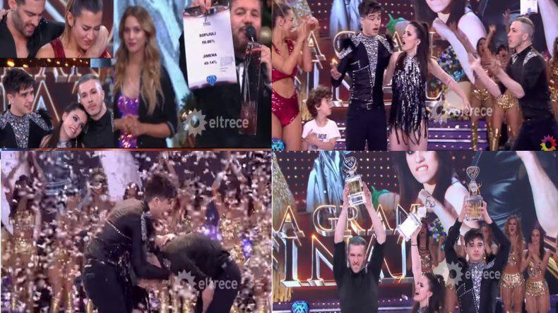 ¡La sorpresa! Con el 50,86% de los votos, Sofi Morandi y Julián Serrano son los ganadores del Bailando 2018