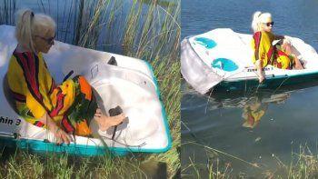 ¡Desopilante! Susana Giménez quedó varada con su bote entre los yuyos y combatió hasta salir