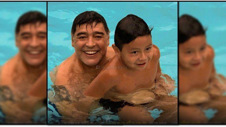 Después de año y medio sin verlo, Diego Maradona se reencontró con Dieguito Fernando