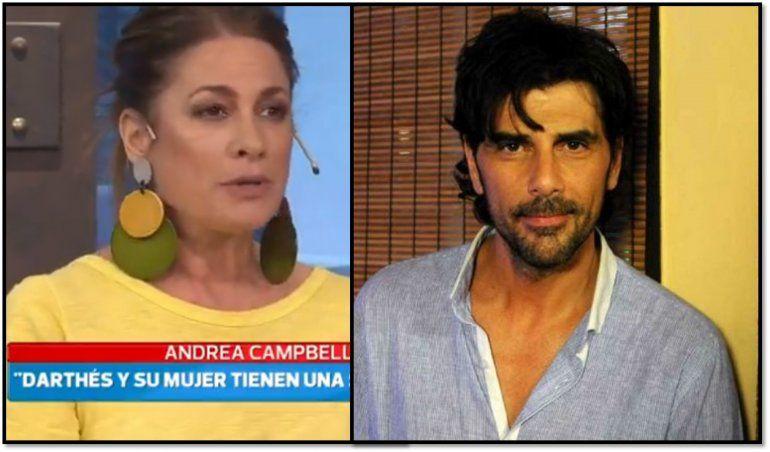 Andrea Campbell confesó que era amiga de Darthés y su esposa, y en una navidad el actor le tocó la cola