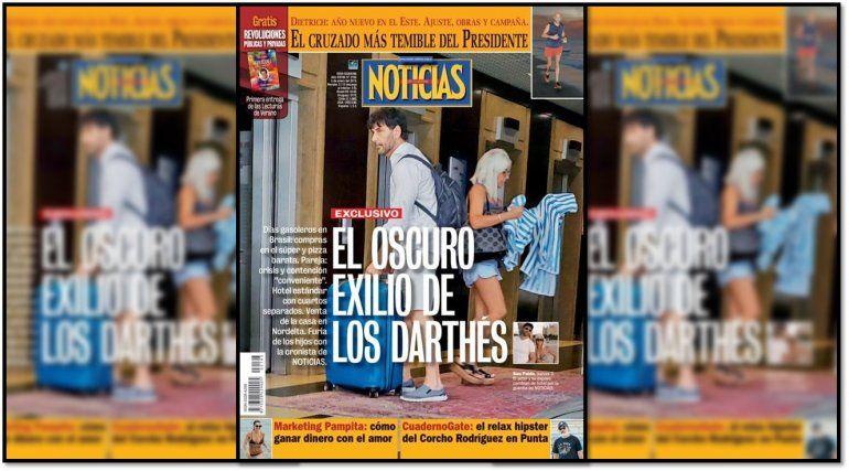 El oscuro exilio de los Darthés; es tapa de revista