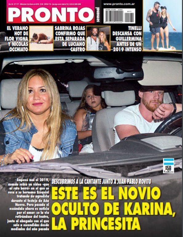 Karina ya se muestra junto a su nuevo amor, el abogado Juan Pablo Rovito