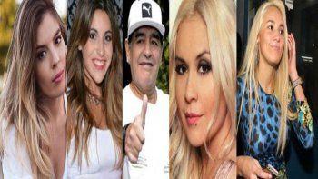 Las mujeres Maradona: separación confirmada