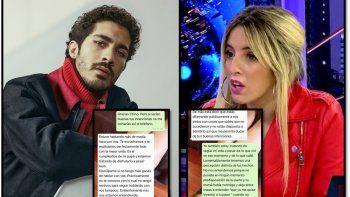 Los chats privados entre Chino Darín y la modelo Romina Seferian