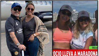 Rocío Oliva quiere la mitad de lo que Maradona ganó mientras estuvieron juntos