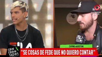 Chyno Agostini dio más detalles del episodio que vivió con Fede Bal: Fue shockeante